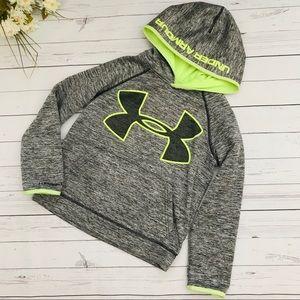 Grey/Neon Yellow Storm hoodie Sweat Shirt